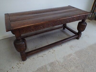 Antique 18th Century Solid Oak Refectory Table Rustic & Charming