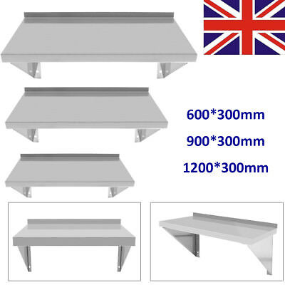 Commercial Catering Stainless Steel Shelves Kitchen Wall Shelf 900 - 1200mm BT
