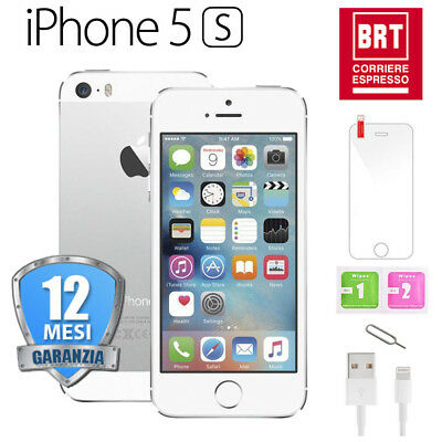 Iphone 5S Ricondizionato 64Gb Bianco Silver Originale Apple Rigenerato 64 Gb It