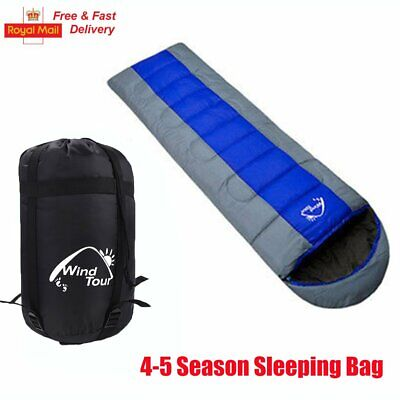 4-5 Season Outdoor Camping Hiking Adult Single Envelope Warm Soft Sleeping Bag