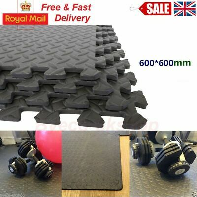 Interlocking Eva Soft Foam Mats Floor Exercise Gym Play Garage Rubber Uk