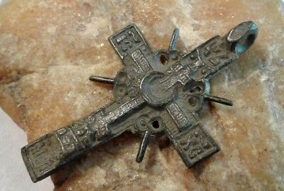 "RARE ANTIQUE 17-19th CENTURY ORTHODOX ""OLD BELIEVERS"" ""SKULL"" CROSS PSALM 68"