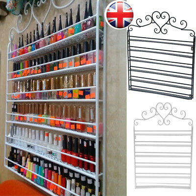 5/6Tier Wall Mounted Nail Polish Rack Organizer Retail Display Holder Shelf