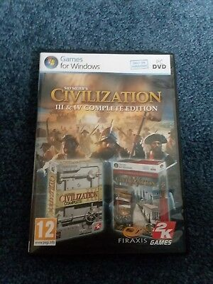 Civilization 3 & 4 Complete III & IV PC DVD Sid Meier's  *EUROPEAN VERSION*