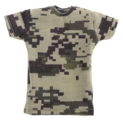 1:6 Green Camo Short T-Shirt for Hot Toys Enterbay 12'' Male Figure Clothes