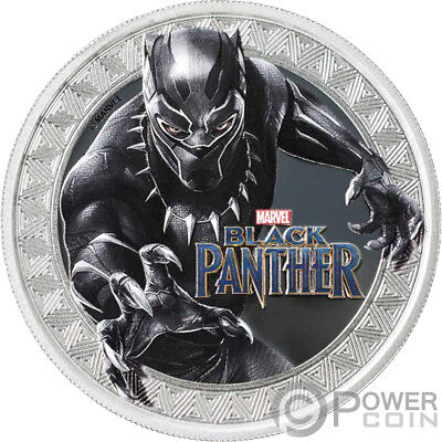 BLACK PANTHER Marvel 1 Oz Silver Coin 1$ Tuvalu 2018