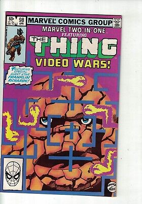 Marvel Comic group Marvel two in one the thing video wars ~ 98 Apr 1983 60c USA