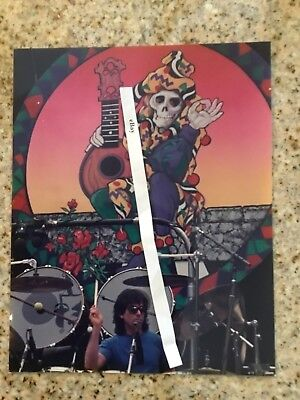 1989 Photo, Mickey Hart, Grateful Dead, Frost Amphitheater, Rare Jester Image