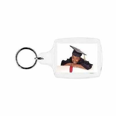 "Plastic Photo Snap-in Key Chain - 1 3/8 x 1 3/4"" (pack of 100)"