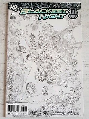 Blackest Night #8 Sketch Variant 1:100 Green Lantern Justice League DC Comics NM