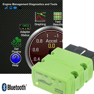 ELM327 V2.1 OBD2 CAN-BUS OBDII Bluetooth Car Auto Diagnostic Interface Scanner