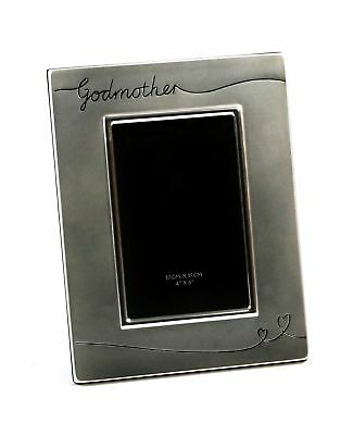 """Two Tone Silver Plated Godmother 4"""" x 6"""" Photo Frame by Haysom Interiors"""
