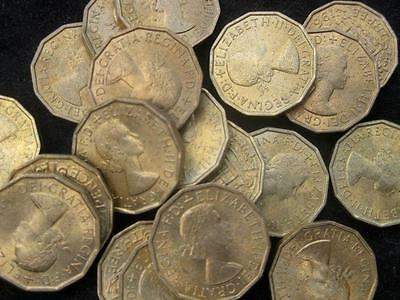 Great Britain United Kingdom 3 Pence   1967 BU lot of 25 BU coins   #42