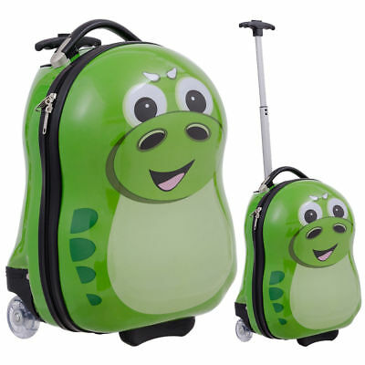 2PC Kids Luggage Set Hard Shell Suitcase Backpack School Travel Trolley Bag Case