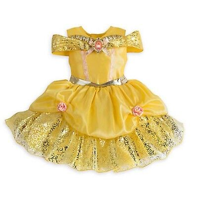 NWT Disney Store Belle Deluxe Costume Baby 6 12 18 24 M Beauty and the Beast