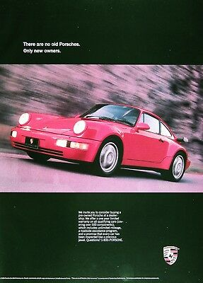 1991 PORSCHE 911 TURBO Genuine Vintage Advertisement ~ Full Color Ad