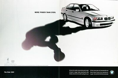 1996 BMW 328i Sedan Genuine Vintage Advertisement ~ More Punch Than Ever
