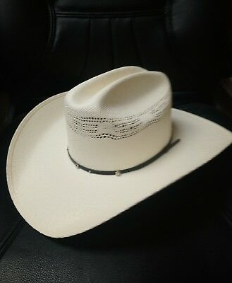 3d868e7385e STALLION BY STETSON COWBOY WESTERN HAT (NATURAL STRAW) Genuine ...