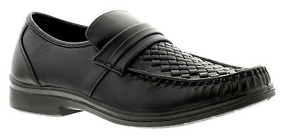 New Mens/Gents Black Slip Ons Casual Fashion Shoes