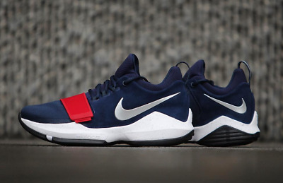 5deb1cee8c92 Nike PG 1 Paul George Blue Red 878627-900 Basketball Shoes Men s  DOUBLE  BOXED
