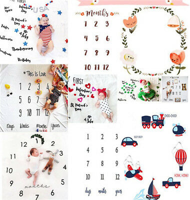 Newborn Baby Blankets for Memorial Milestone Photography Monthly Props Gifts