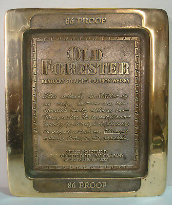 Old Forester - 86 Proof - Solid Brass Label Details – Vintage Tray Dish