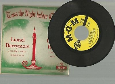 RARE 'Twas the night before Christmas - Lionel Barrymore / David Rose MGM X1058