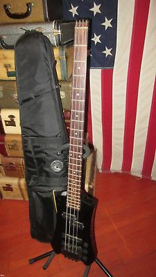 Vintage Original Circa 1980's Cort Headless Bass Black With Gigbag Cool!!