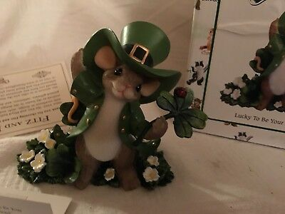 """Charming Tails """"LUCKY TO BE YOUR FRIEND"""" DEAN GRIFF NIB"""