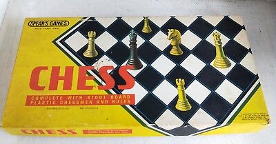 Vintage Board Game: Chess by Spear's Games No. 1545 in Box, 1974 (7285)