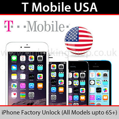 T Mobile USA iPhone Factory Unlocking Service (All Models up to 6s Plus)