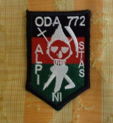 U.s Army Special Forces Team Patch, Oda 772, Black, Mid East Made