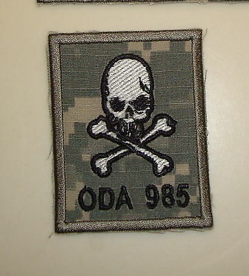 Special Forces Oda 985 Team Pocket Patch, Theater Made