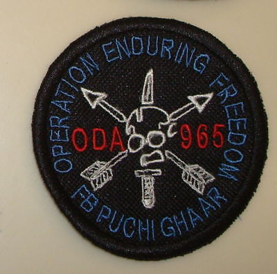 Special Forces Oda 965 Team Pocket Patch, Theater Made