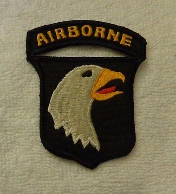 U.s.army Patch, 101St Airborne Division,combat Side Reverse Eagle, Japanese Made
