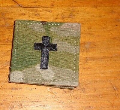 Army Patch, Christian Chaplain,rank Tab , Multi-Cam,scorpion With Hook Loop