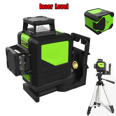 8 Line 360° Rotary Green Laser Level  Self Leveling Cross Line