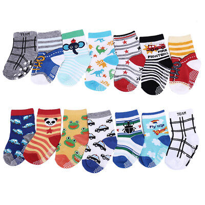 14Pairs 1-3 Years Old Baby Anti-slip Soft Socks Assorted Toddler Infants Sock