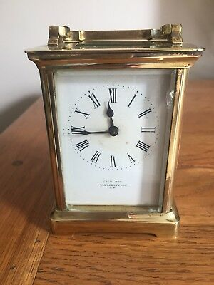 Solid Brass Carriage Clock Cecil Roy with R&Co Paris Movement