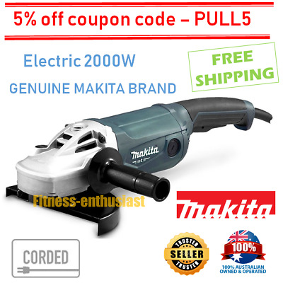 "Makita Angle Grinder 230mm 9"" Powerful 2000W Cord 9 inch Trigger Switch M9001G"