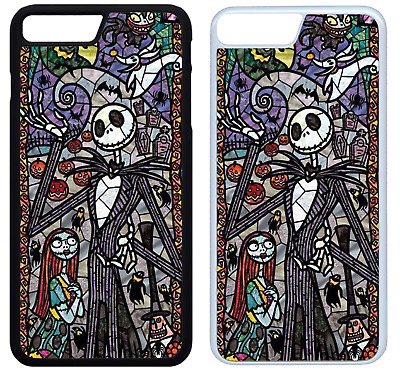 STAINED GLASS NIGHTMARE BEFORE CHRISTMAS Phone Case iPhone Galaxy 4 5 6 7 8 X(A)