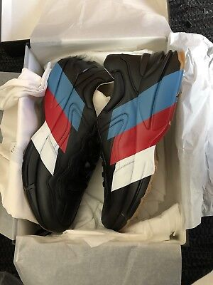 97eec446be4 Gucci Rhyton leather sneaker shoe Black DS Brand New Dead Stock Box 14.5US