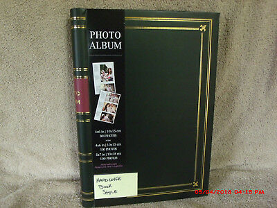 Book Style Photo Album, 4 x 6, 5 x 7, Sprial Bound, Blk w/Gold