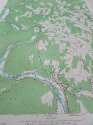"""22"""" X 27"""" New York State Quadrangle Topographical Map of Callicoon 1973 M-17"""