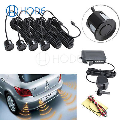 Parking 4 Sensors Car Reverse Backup Rear Buzzer Radar System Kit AlarmUK