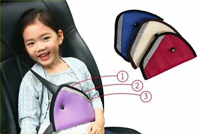 Child Safety Cover Harness Pad Triangle Comfortable Seat Belt Adjuster Fix Car