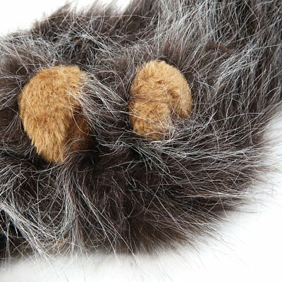 Pet Costume Lion Mane Wig for Cat Halloween Christmas Party Dress Up With Ear VG