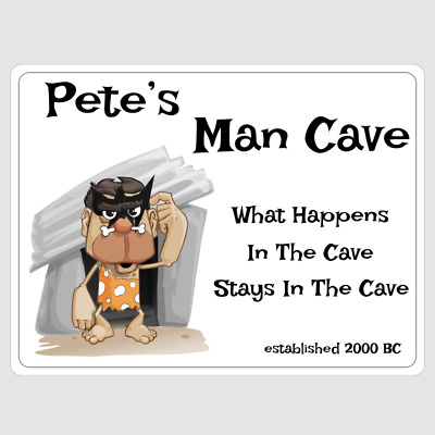 Man Cave Sign Personalised Fathers Day Gift Metal Wall Plaque