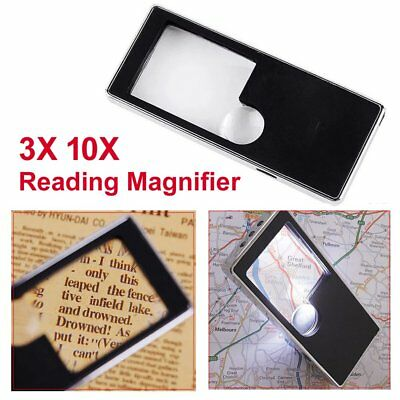 Reading Magnifier with LED 3X 10X Jewelry Handheld Jeweler Magnifying Mini Loupe