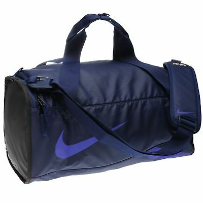 Nike Alpha Small Duffel Bag Blue Black Sports Gym Bag Holdall Carryall 94133f0b4ab66